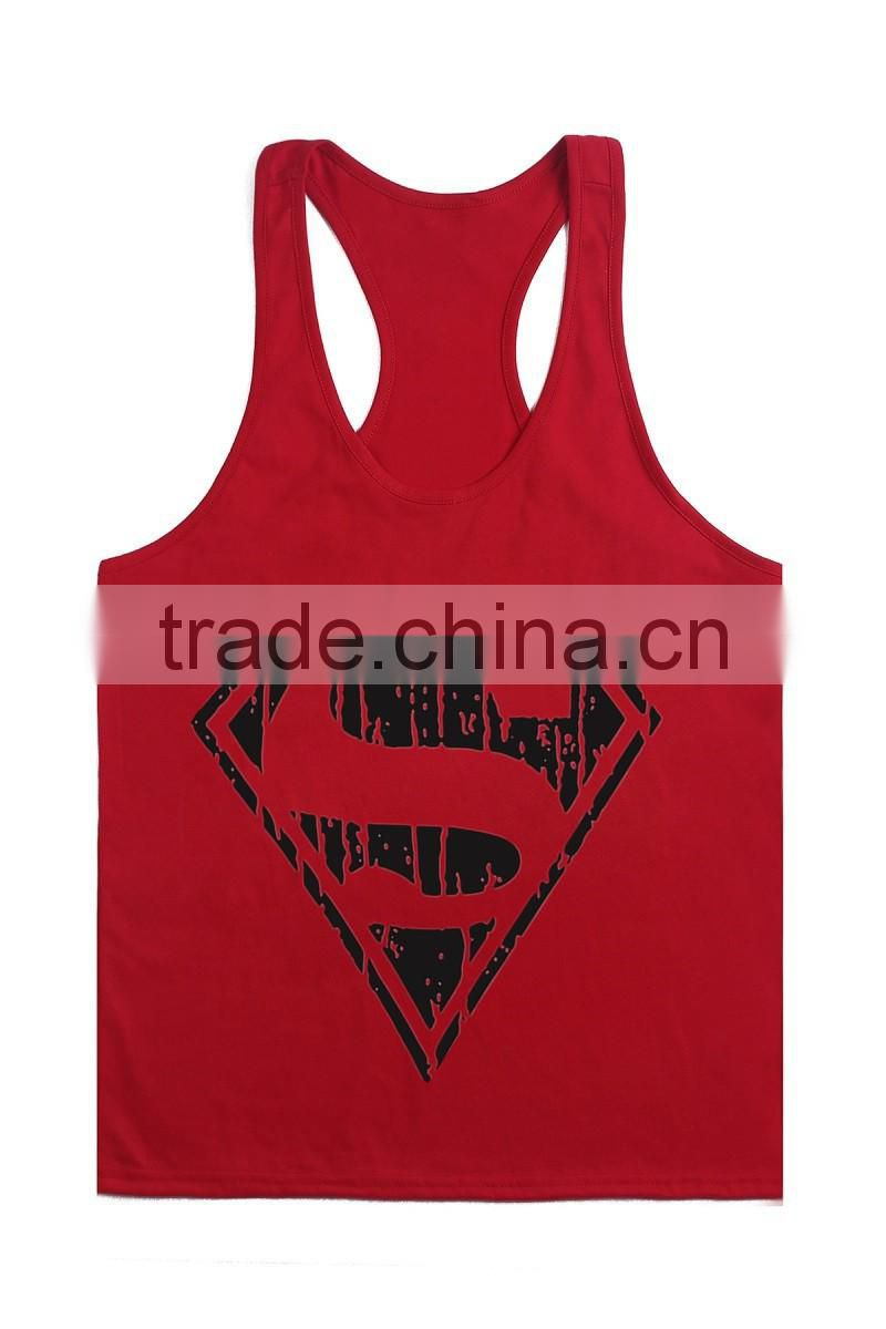 Superman Gym Singlets Mens Tank Tops Wholesale,Bodybuilding Equipment Fitness Men's Gym Stringer Tank Top Sports Clothes