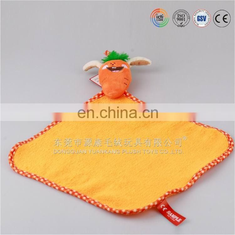 Plush blankie toy for babies from ICTI China factory