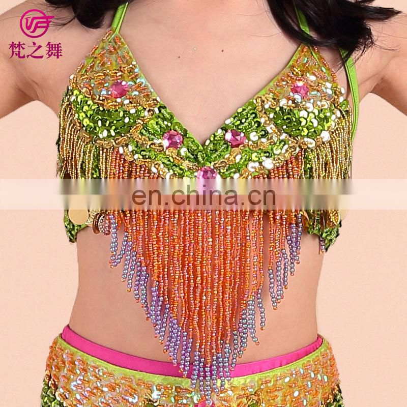 ET-064 Lovely sparkle stage competition girls belly dance wear