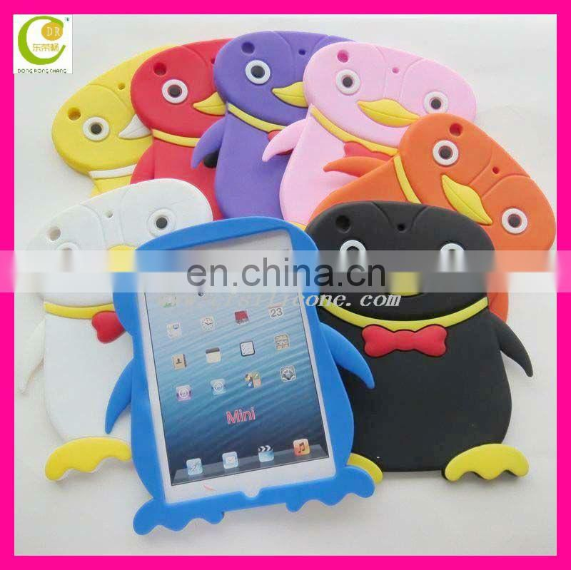animal 3D case for ipad 3,for vivid image back for ipad cover,soft silicone protective case for ipad mini
