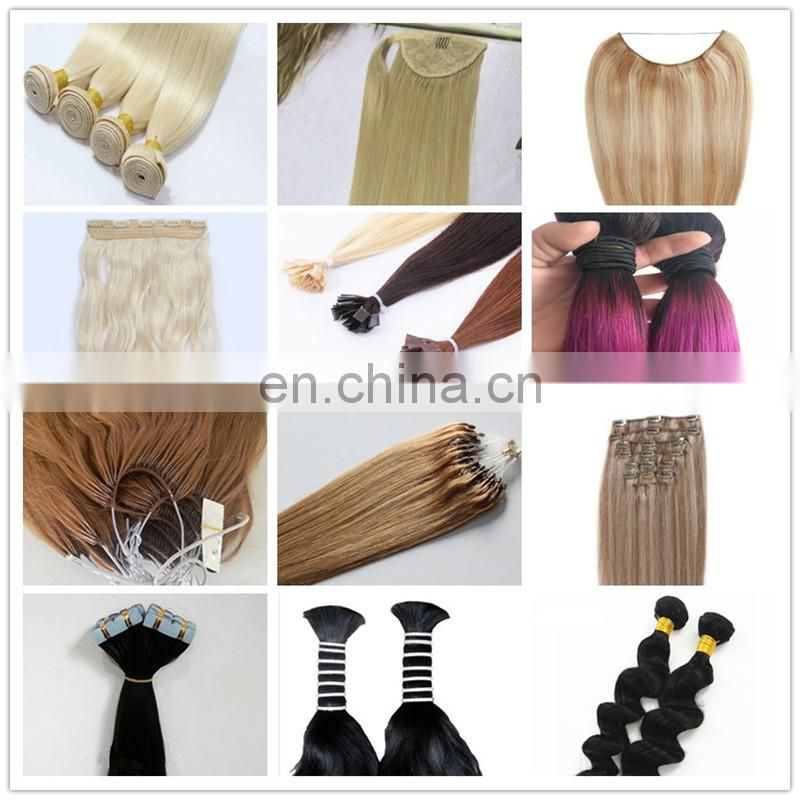 Platinum blonde remy hair i tip hair extensions wholesale