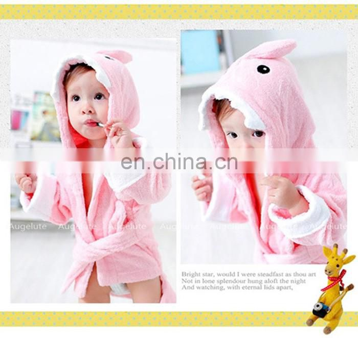 2016 fashionable 100% cotton animal designs baby bath towe with hood