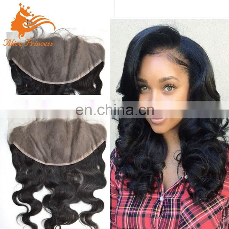 Custom Density Avaliable Ear To Ear Human Hair 13x6 Lace Frontal Full Lace Frontal Pieces