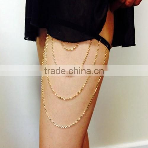 Fashion four layers tassels leg chain