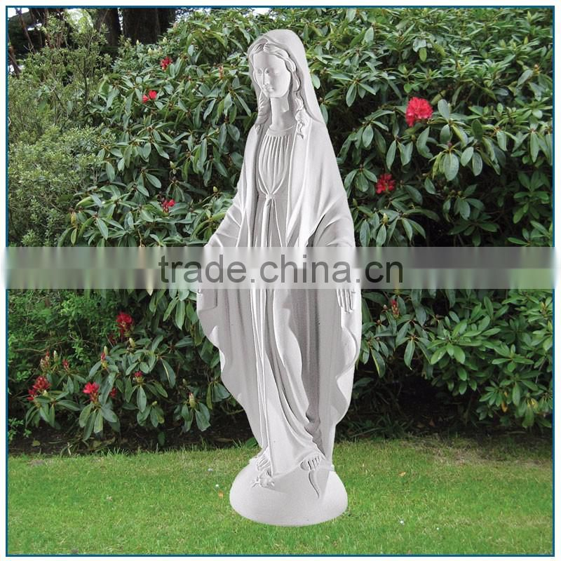 life-size outdoor decor White Marble Virgin Mary Statue