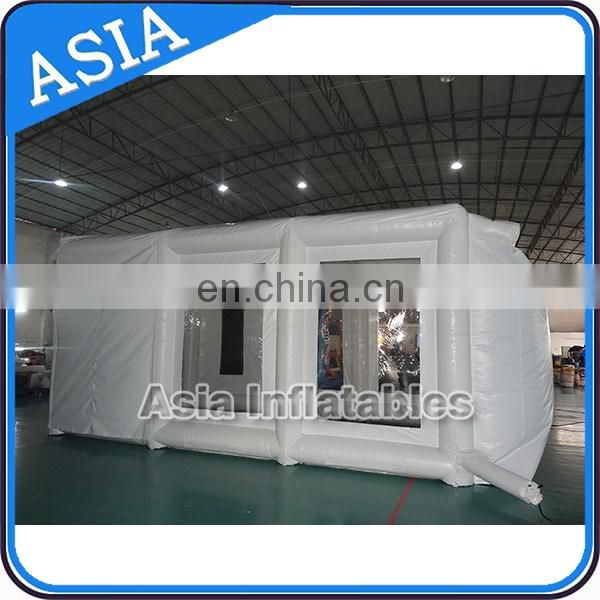 portable inflatable spray booth for car maintaining