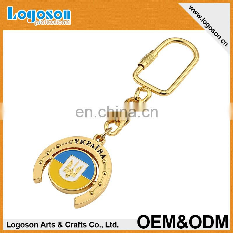 top quality custom design souvenir keychain heart with diamond