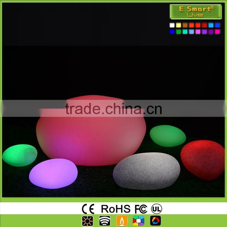 illuminated stone shape led decorative lamp
