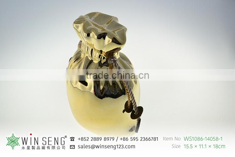 cheap bag shaped ceramic animal piggy bank for sale