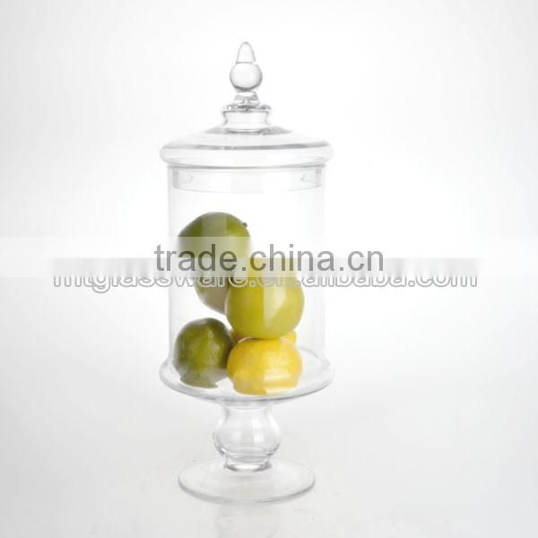 Mintao Custom high quality rose glass spice jar with clamp lid
