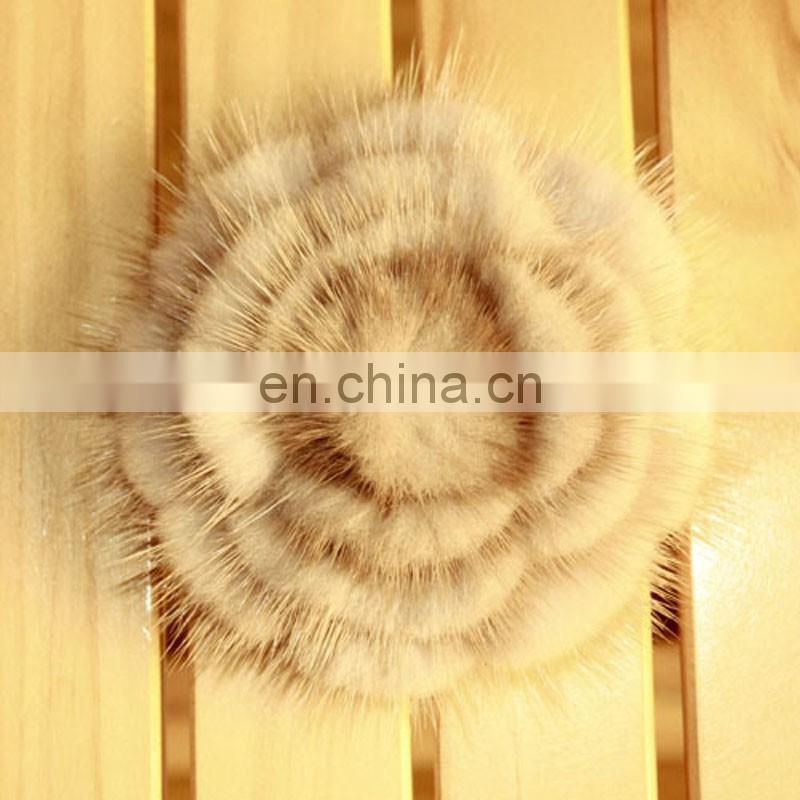 Mink fur flower fur hariband for girl lady fashion handmade fur accessory
