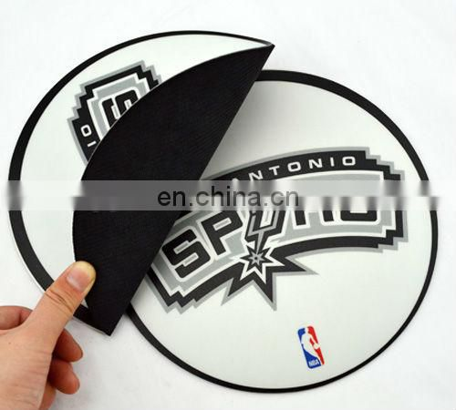 Custom design printed rubber material beautiful mouse pad