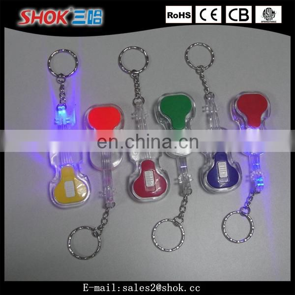 China manufacturer souvenir led flashlights guitar key chain