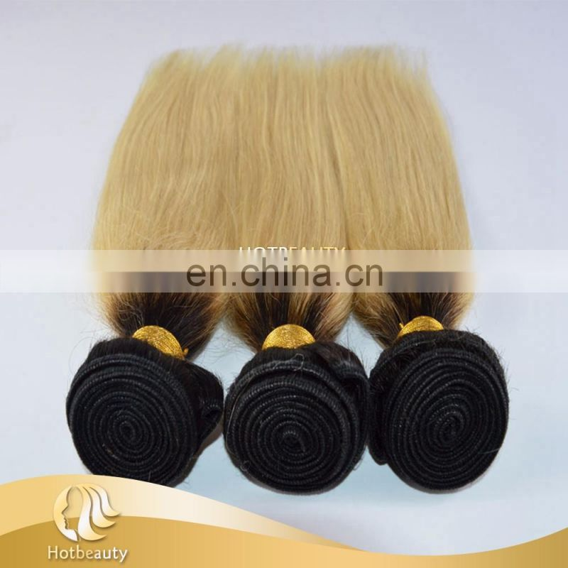 Peruvian virgin human hair blonde hair, straight blonde