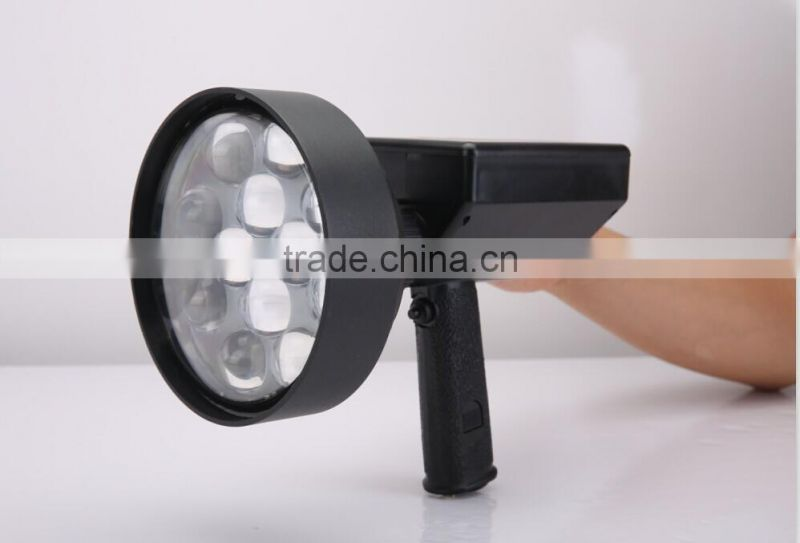Super bright CREE 36W LED Handheld Spotlight Rechargeable Hunting Searchlight 4000LM