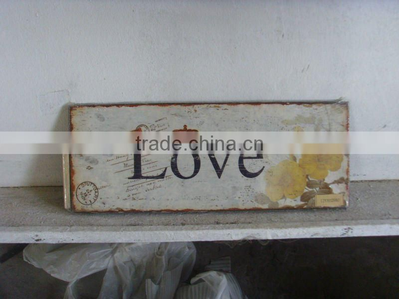Antique Wooden Wall Sign