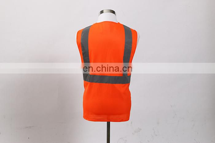 Hi Visi Quality 100% Polyester Fluorescent Orange Safety Vest