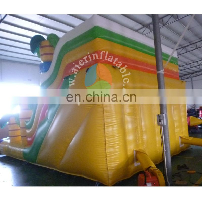 2017 crazy and popular custom giant inflatable jungle slide inflatable dry slide for adult and kids