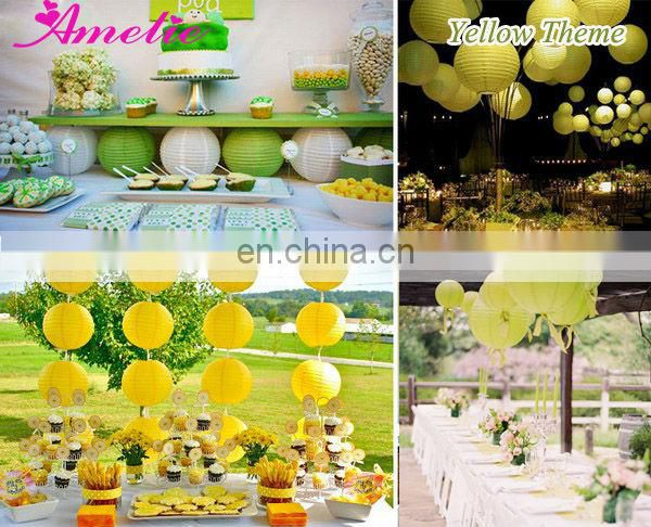 A45PL Garden Wedding Decoration Colored Paper Lanterns