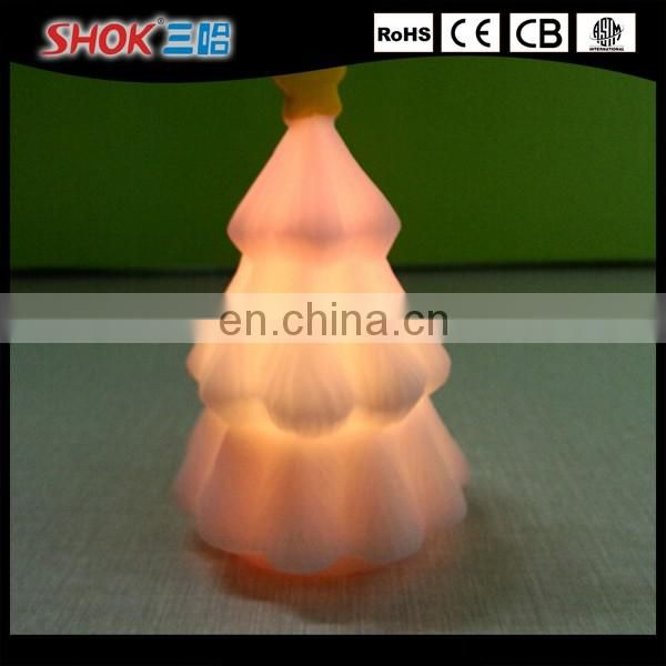 Christmas tree Shape Color Small Glowing LED Night Light/Christmas tree shape LED light