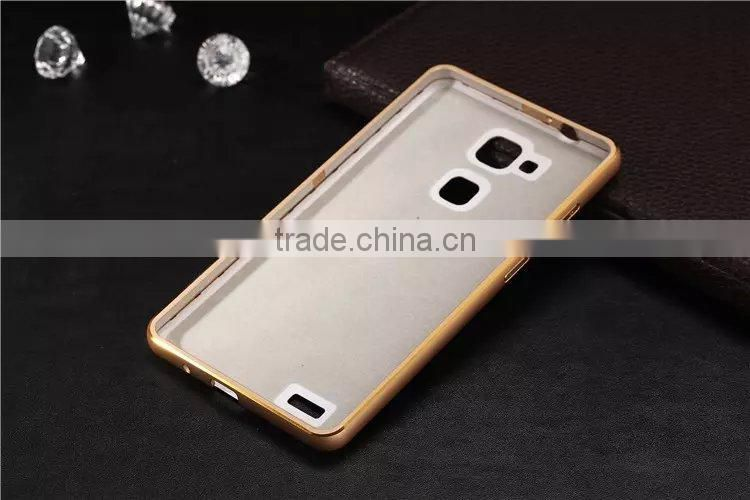 circular arc metal frame for huawei mate 7 with PC Back Cover Case