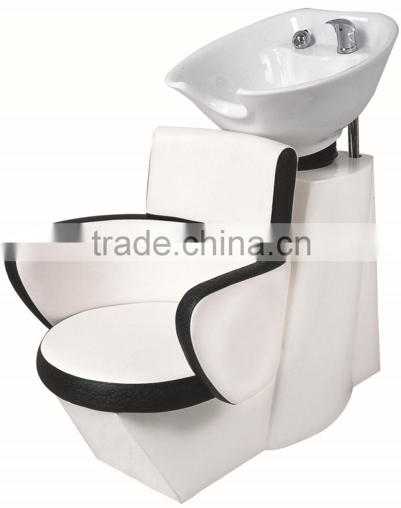 professional salon beauty shampoo chair; durable shampoo chair with sink