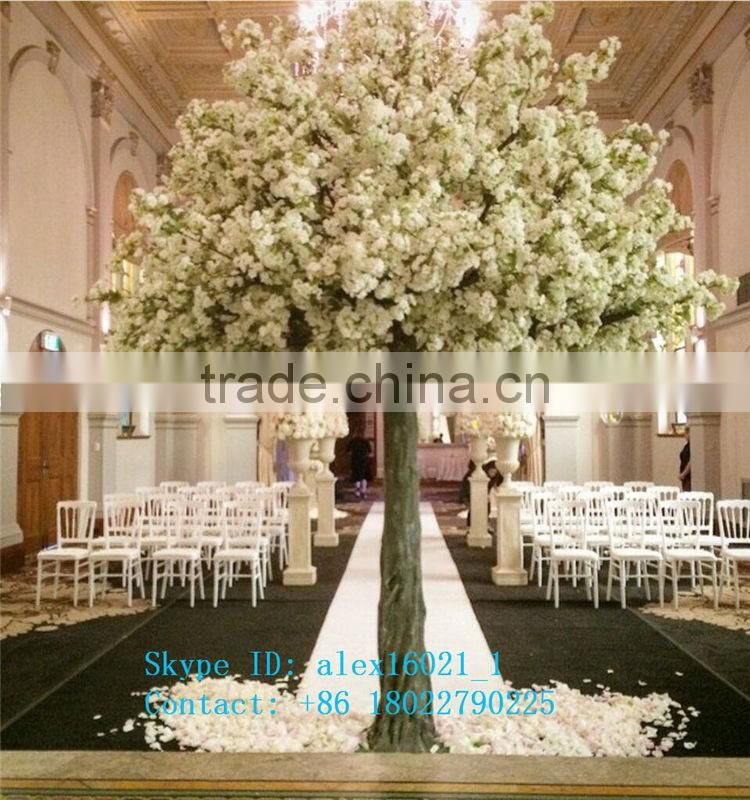 2017 hot sale fake decorative artificial cherry blossom tree for weddings