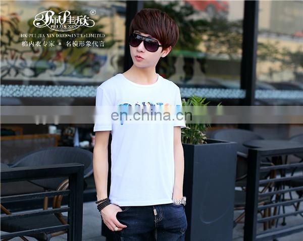 Peijiaxin Fashion Design Casul Style Cheap Man Plain Cotton Tshirt