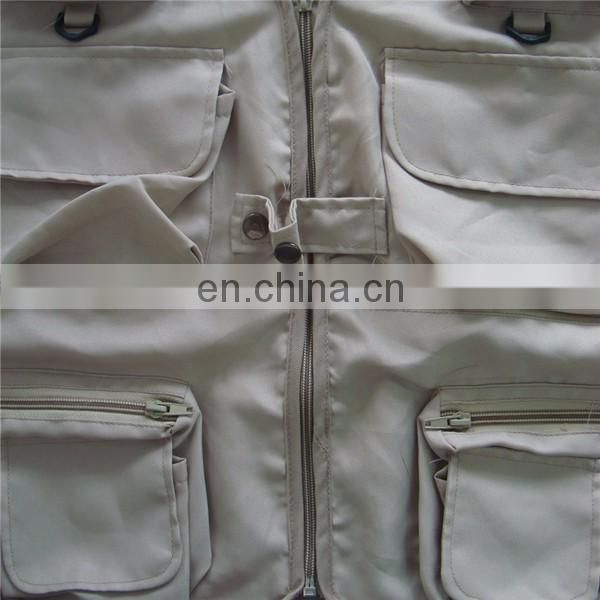 China wholesale multi pockets hunting fishing grey vest