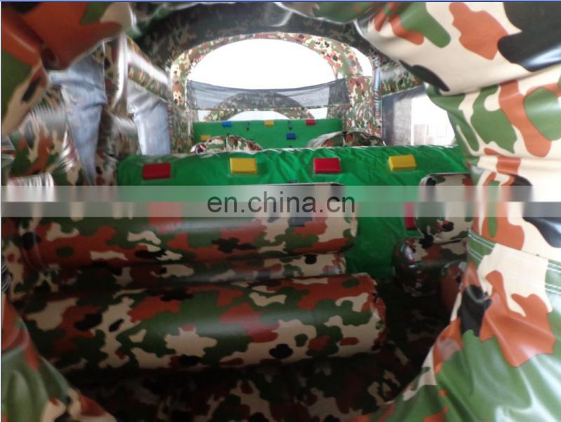 superior quality army inflatable obstacle course