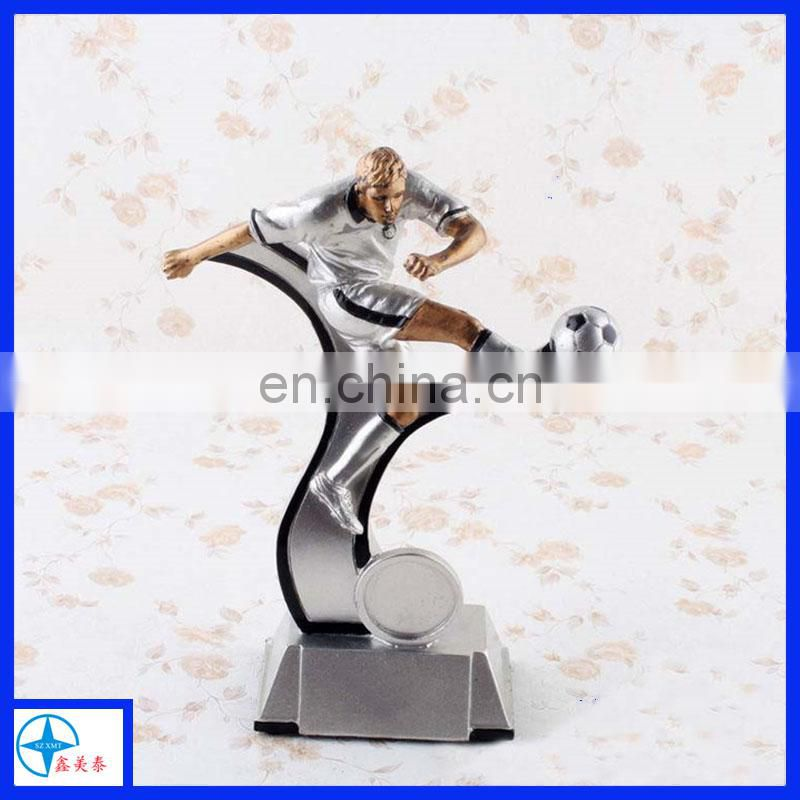 customized resin football sports trophy