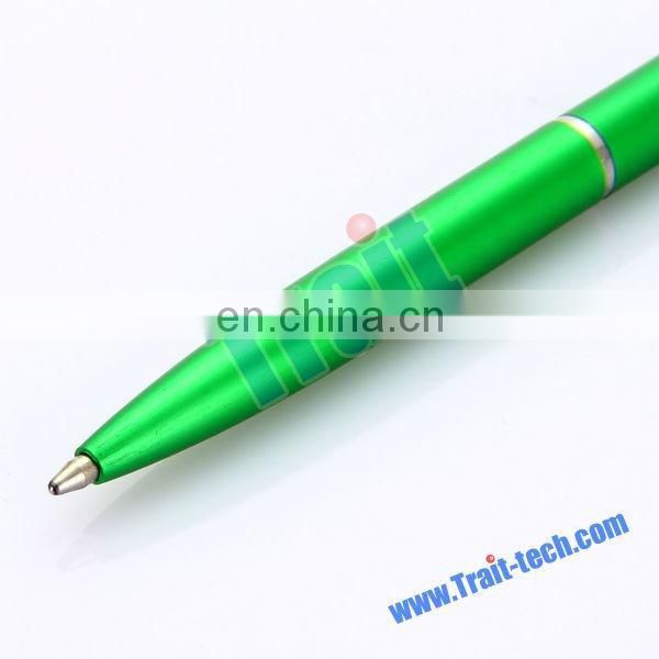 Bulk Sales Cystal Diamond 2 in 1 Ballpen + Touch Pen With Clip Green
