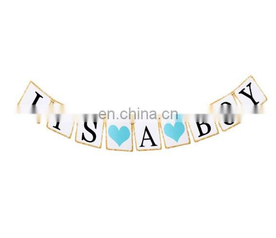 it's a boy set baby shower decoration