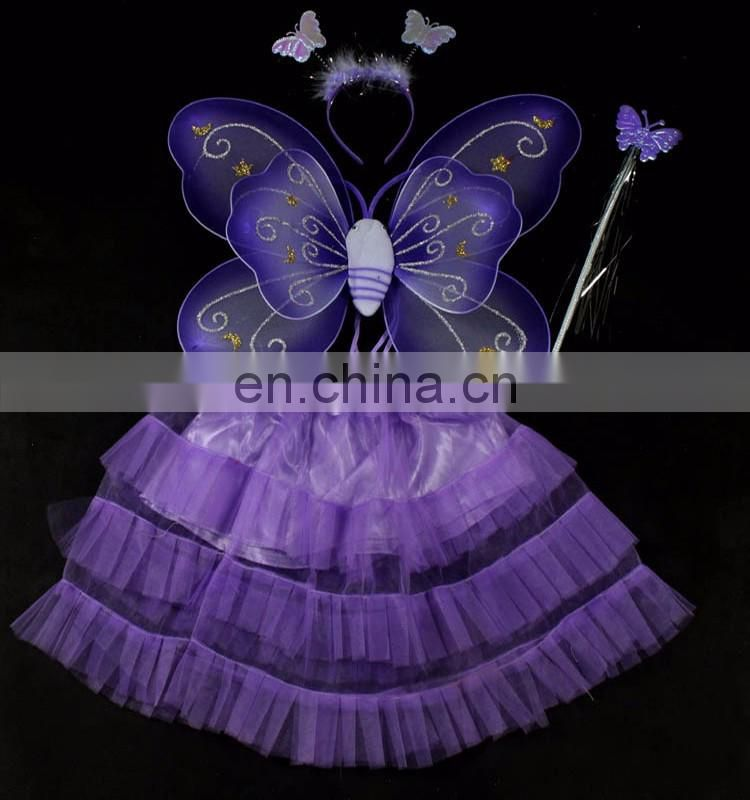 Purple Silk Butterfly Wing Set fairy angel wings for kids christmas ornament