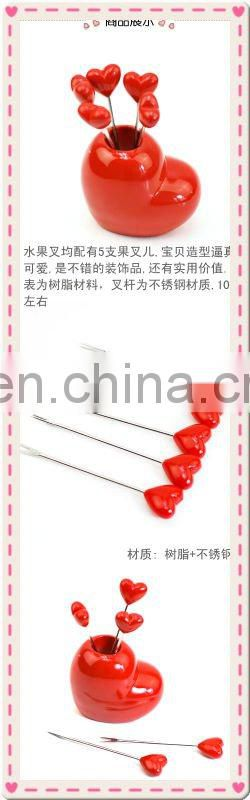 Wedding Gift Heart Shape Fruit Fork