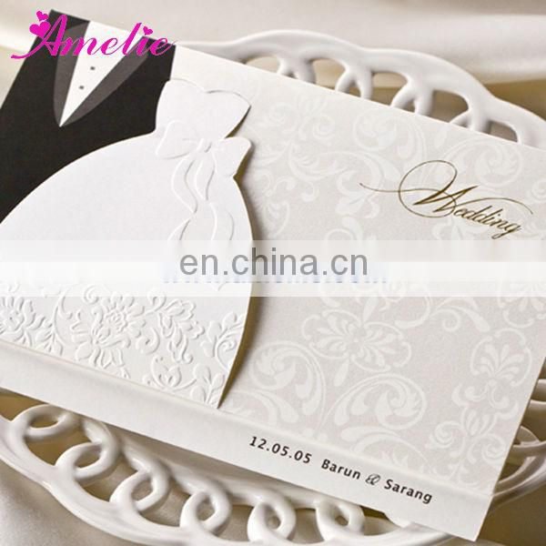 ABH2046 Bride and Bridegoom design wedding invitations wholesale prices