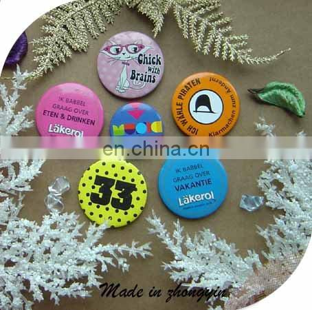 Custom Round Pin Badge Button For Party Gift (ZY9-4008)