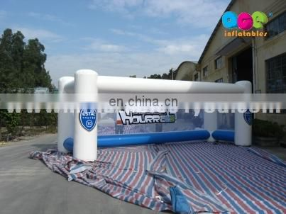 Customized portable inflatable football goal for sale