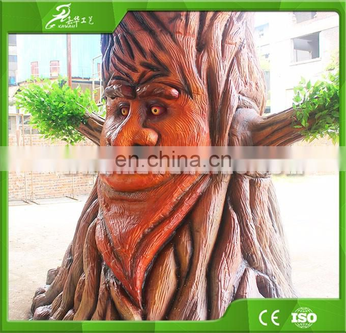 KAWAH OEM factory CE approved artificial animatronic talking tree