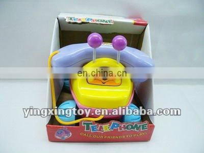 New design kids cartoon plastic telephone toy