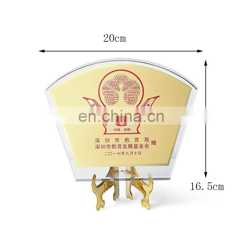 Custom acrylic logo commemorative plate for souvenir