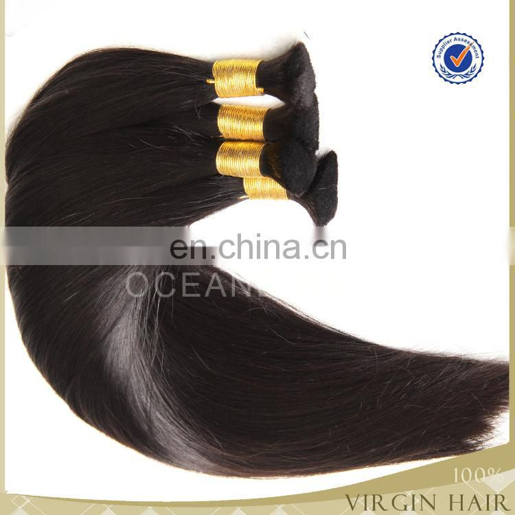wholesle virgin brazilian remy hair freetress bulk hair