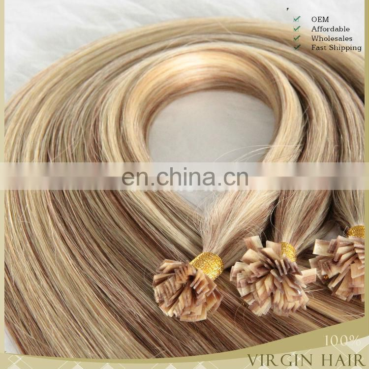 Drouble drawn 2.5g/piece 8-30 inchu tip wavy hair extensions