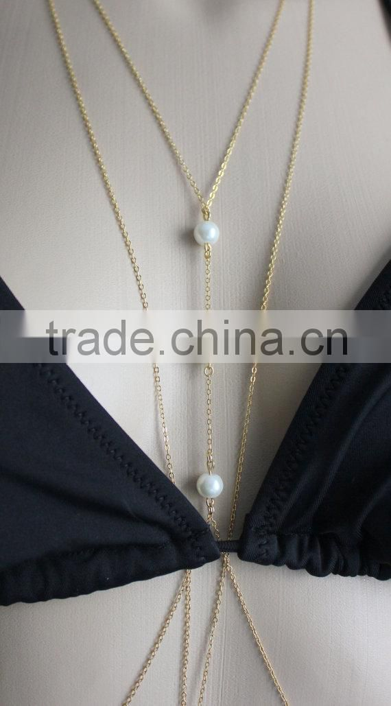Yiwu jewelry factory supplier Chain Body Jewelry For Bikini Beach Summer Swim Suits Accessories Belly Chain For Lady