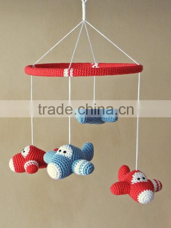 Crochet mobile airplane stuffed toys,baby toys Image