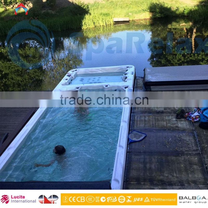 Luxury 7.5M European Style Outdoor Swim Spa/Swim Pool with Balboa BP system and Spatouch