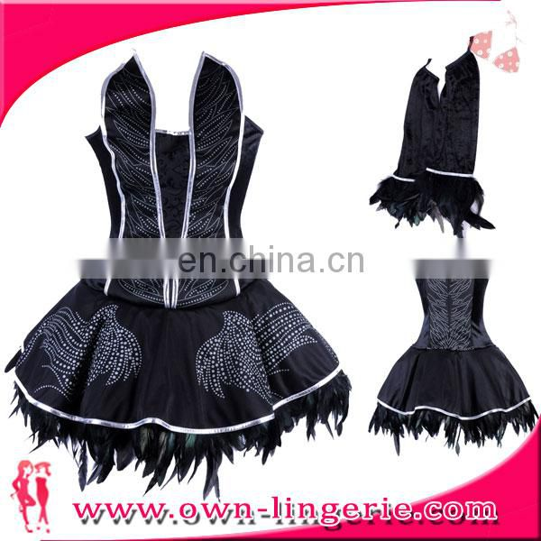 Lady Corset, Skirt and Tail costume halloween stock