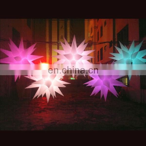 led inflatable star with led lighting for pub stage birthday Halloween party decoration