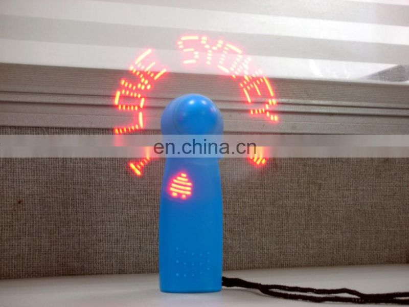 China Manufacturer Free Sample Wholesale Led Message Fan Mini Handy Fan