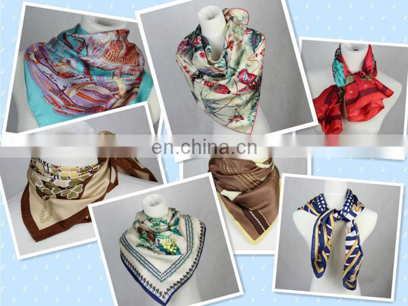 Chinese style 100 % pure square cotton big scarf